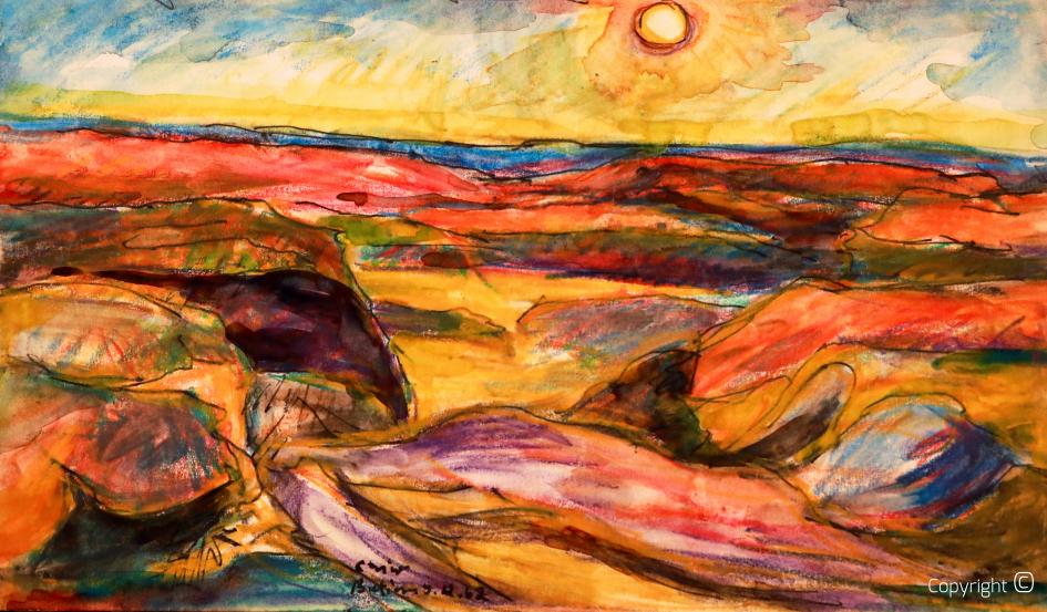 Ansicht der Lybischen Wüste, 1962