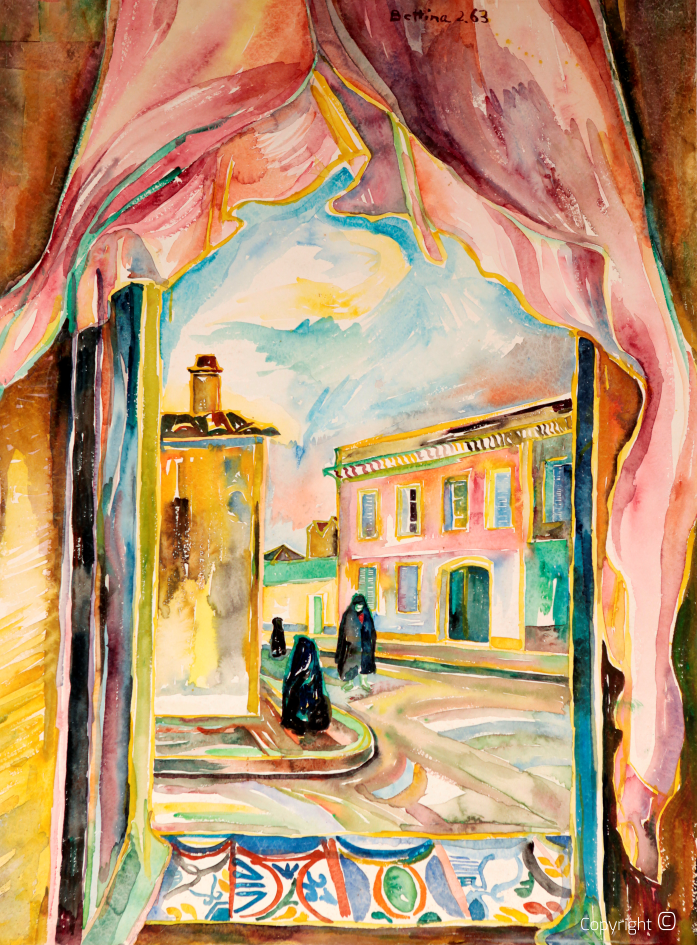 Vue d'une fenêtre de la rue de Jugurtha, 1963