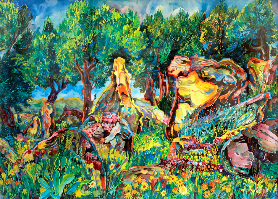 Le jardin paradisiaque près de Guelma, 1970