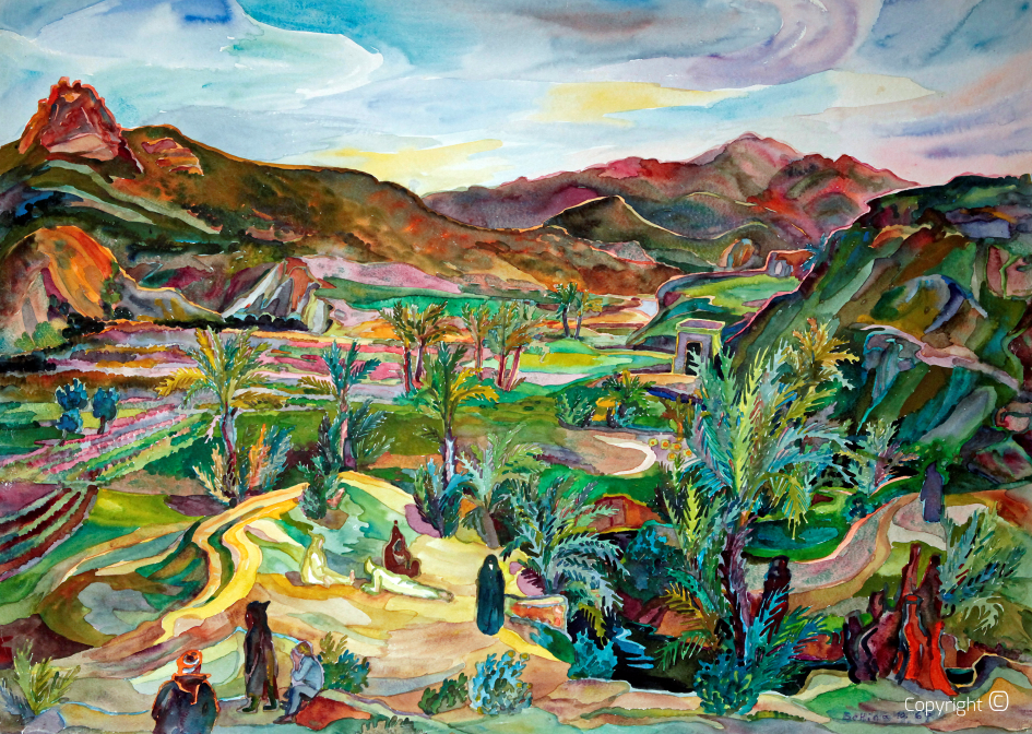 Paradise garden in the valley of Hammam Meskoutine, 1967