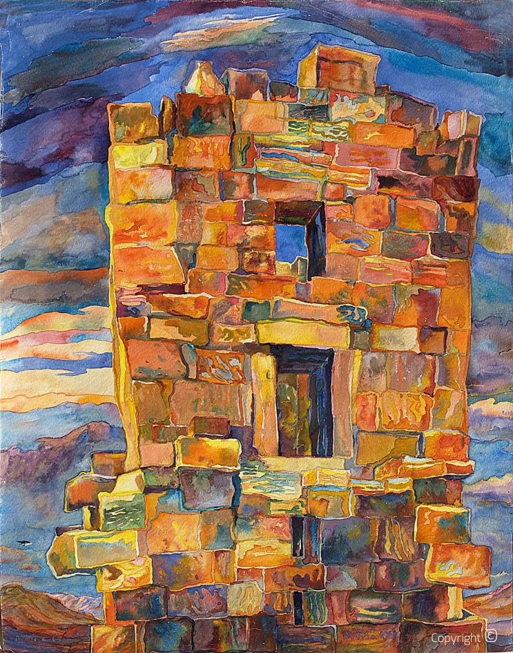 Arc romain à Djemila, 1969