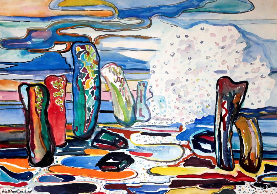 Sylt, sea spray, 1953