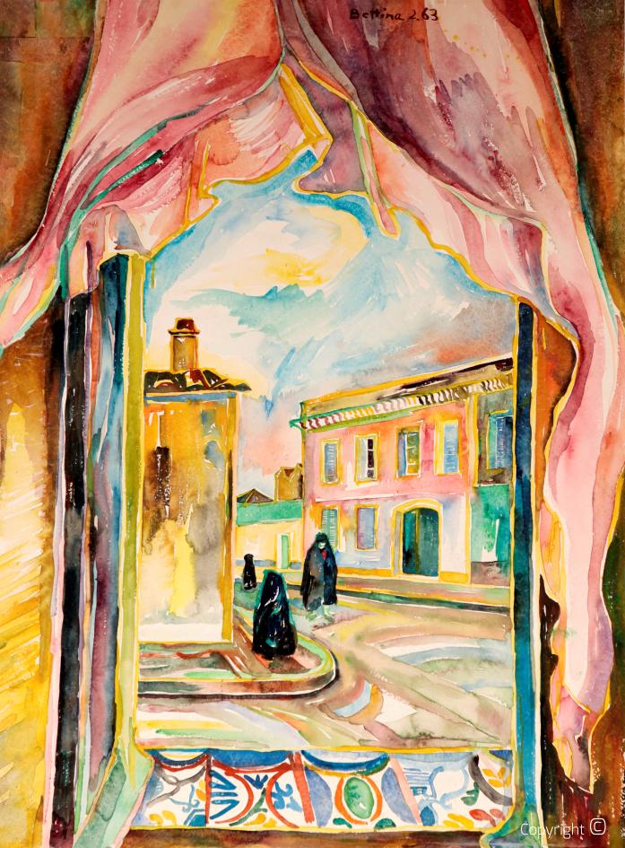 Fensterausblick auf die Rue de Jugurtha, 1963