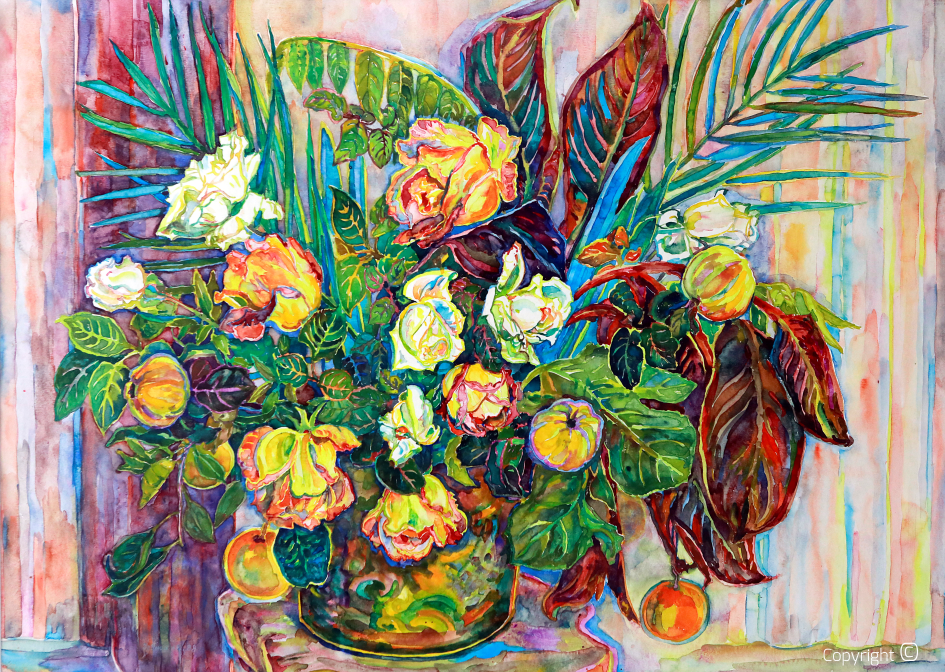 Blumenportrait,  1989