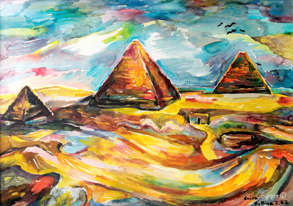 The Giza pyramid, 1962