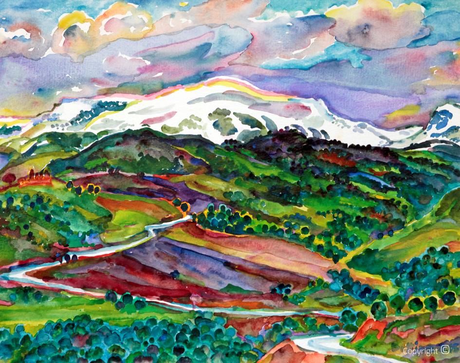 Enneigement sur le massif de Mahouna près de Guelma, 1985