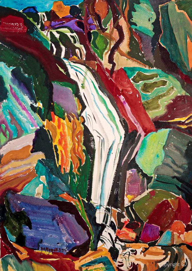 Waterfall in Ticino, 1953