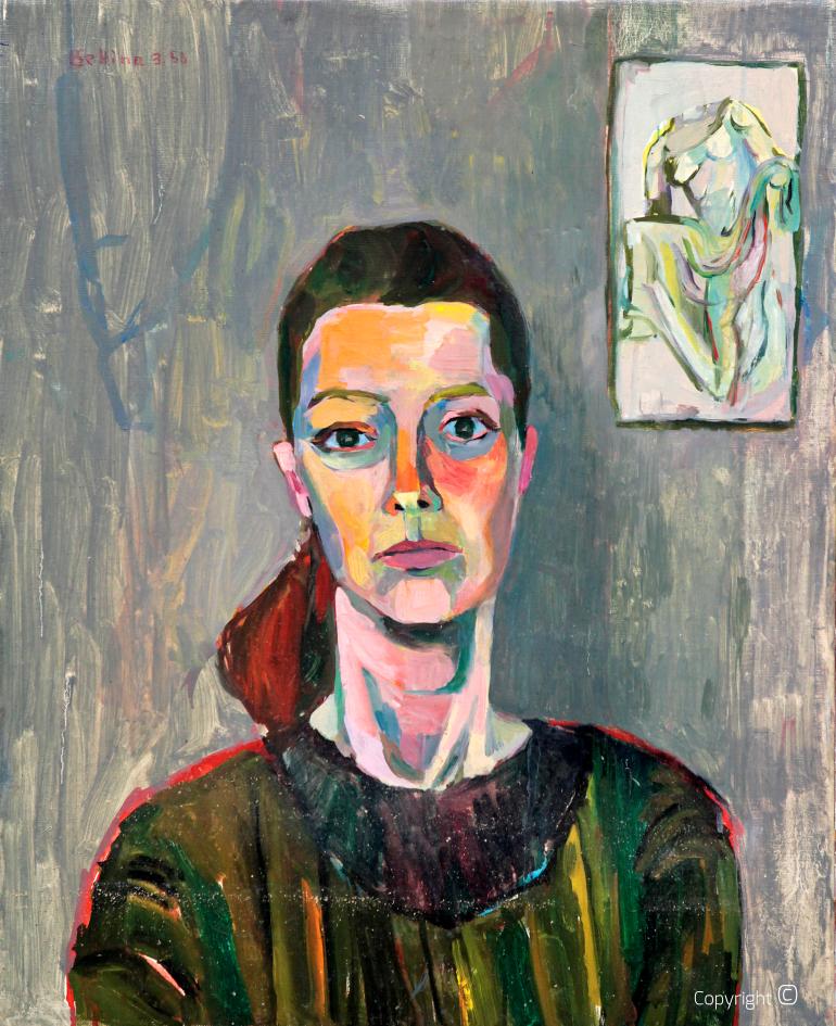 Portrait of an art student in Copenhagen, 1958