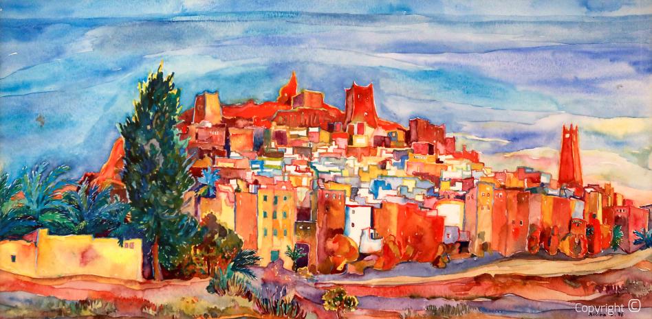 The desert city of Ghardaia, 1976