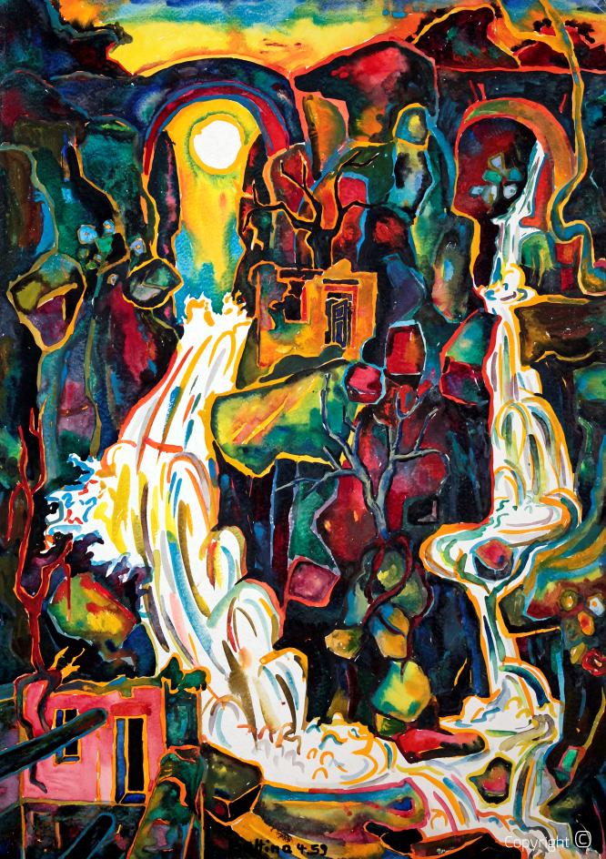Double cascade au Tessin, 1959