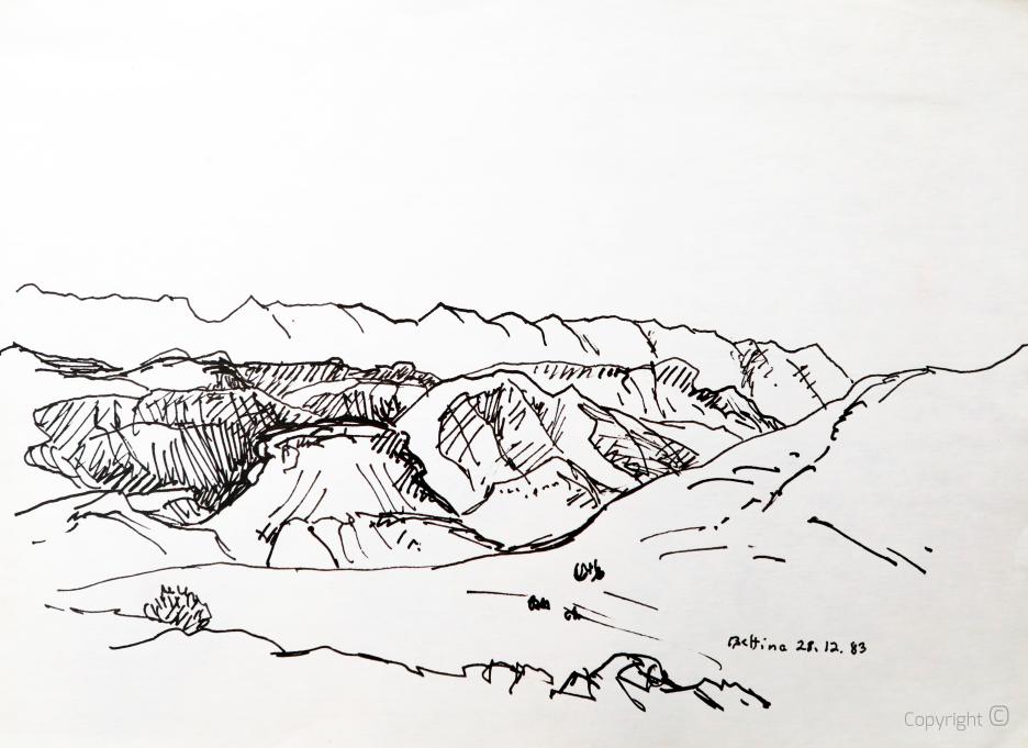 Dans le massif des Aurès, 1983