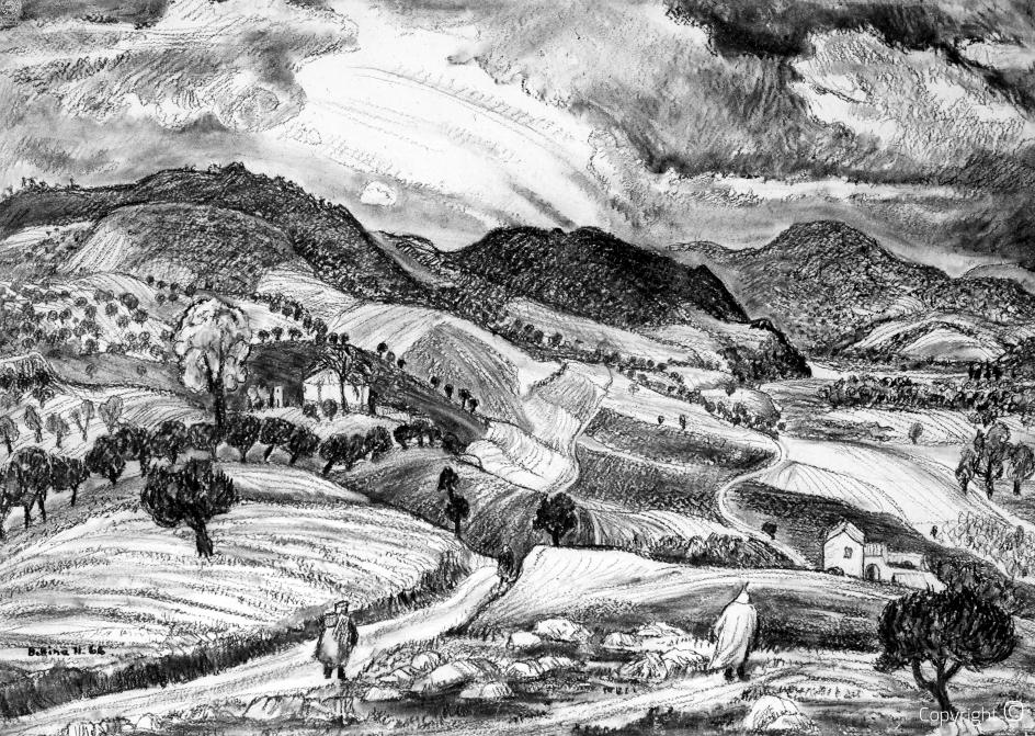 Das Seybouse Tal im Winter, 1966