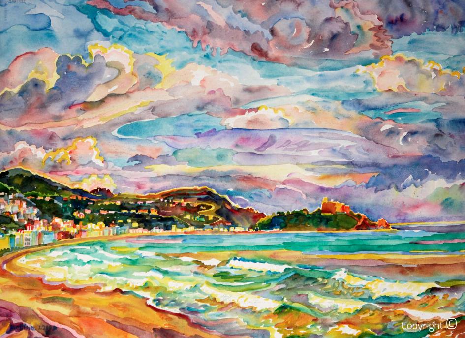 Impressions sur la mer à Tabarka, 2003