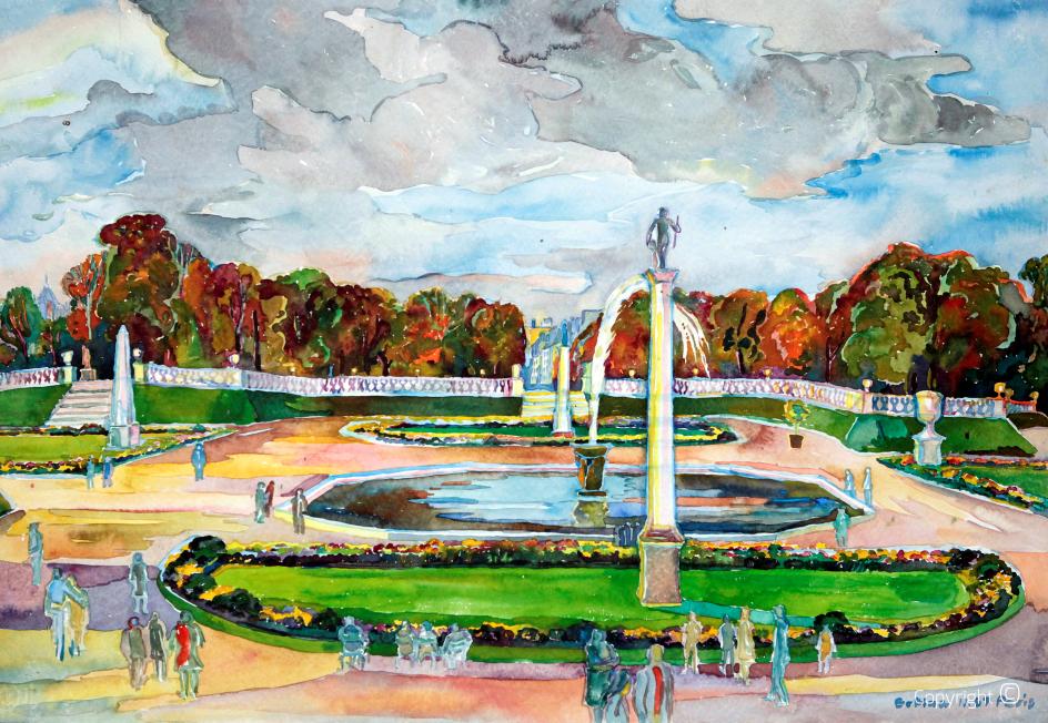 Jardin du Luxemburg, 1967