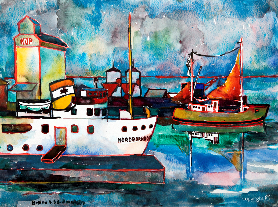 Bornholm harbor, 1958