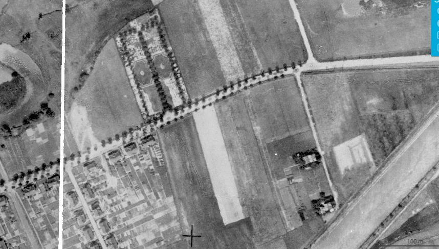 Historisches Luftbild Friedhof in Rünthe 1926