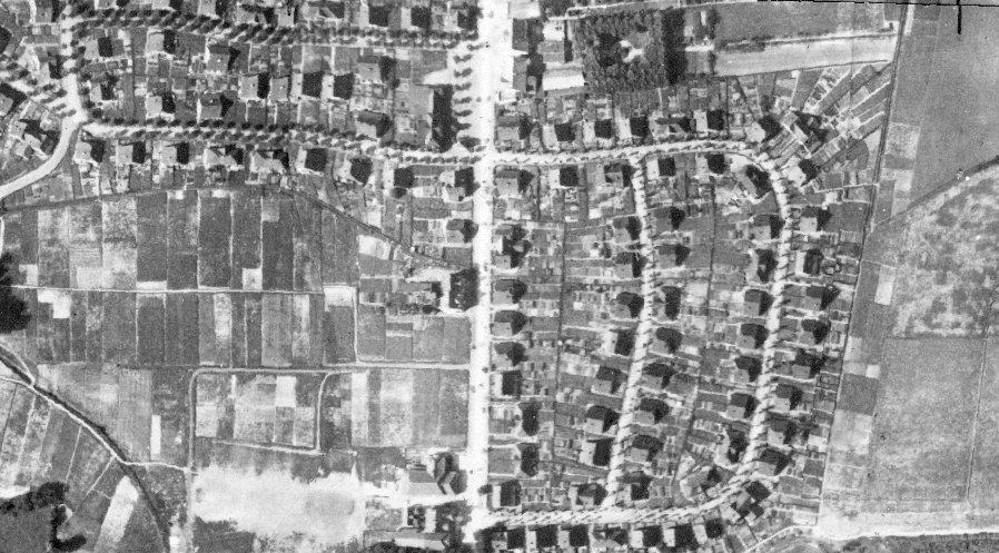 Luftbild der Kolonie Rünthe-Süd von 1926