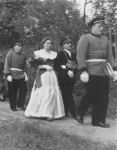 Walter Gester & Gisela Hasslinde im Jahr 1955