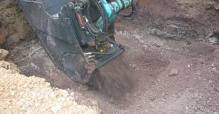 Bodenverbesserung im Kanalgraben mit Dorosol
