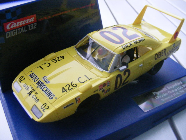 "Carrera Digital 132 30586 Plymouth Superbird Riverside 1970, ""No. 02"" only USA"