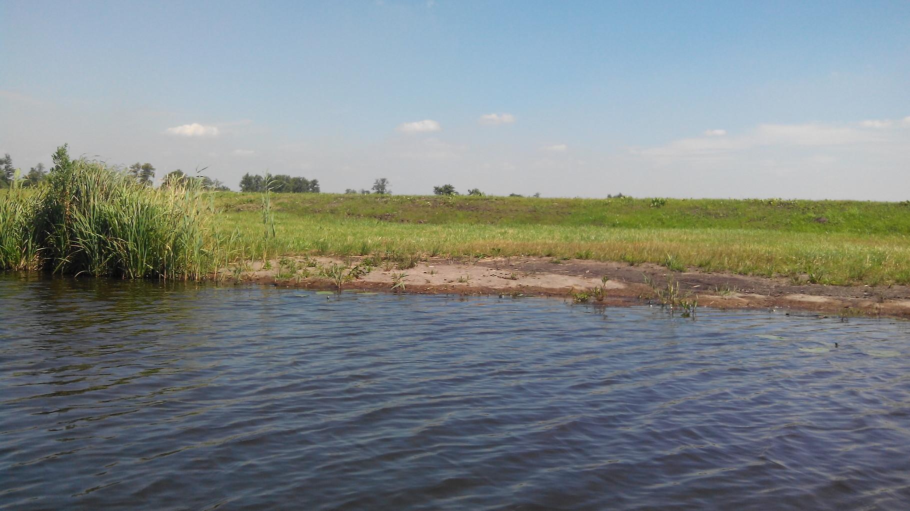 Natuurvriendelijke oevers met cocosmatten ter bescherming tegen afkalven