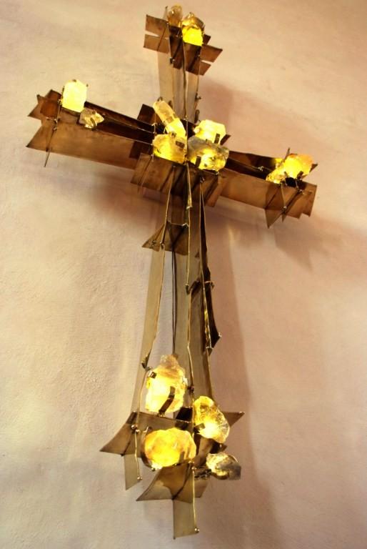 Matthäus-Kreuz aus Messing restauriert von Kai Wolf