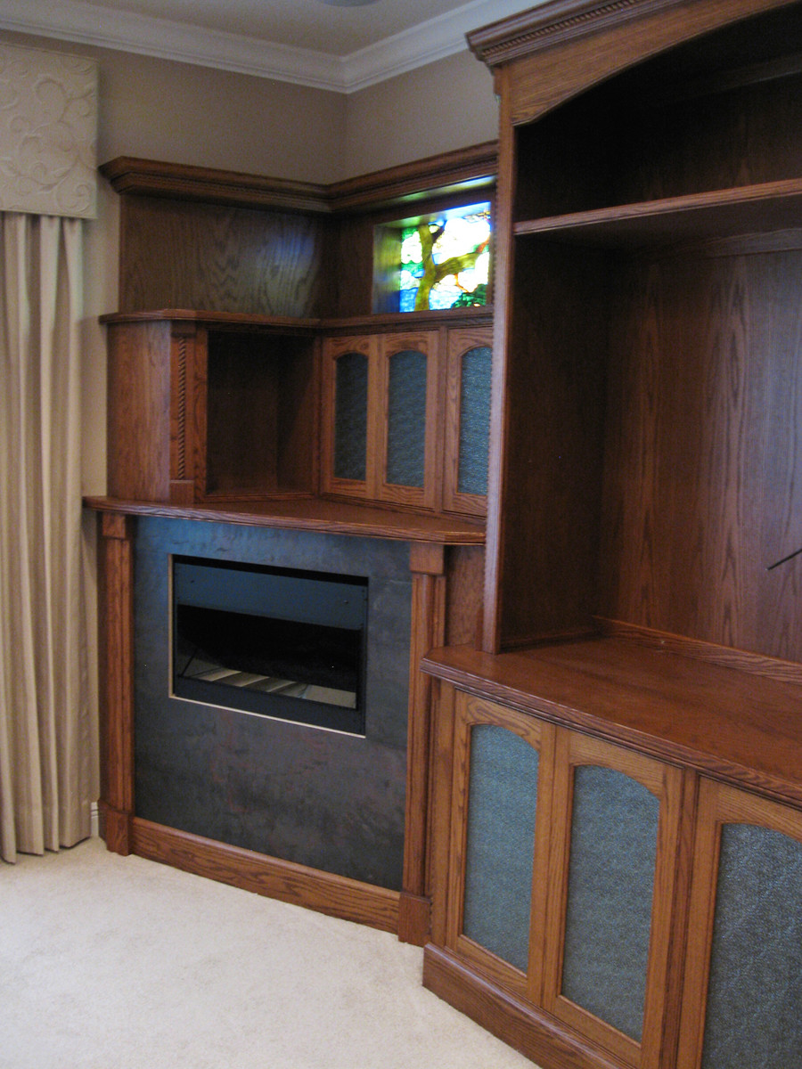Assemble and install unit. Install and wire the fireplace.