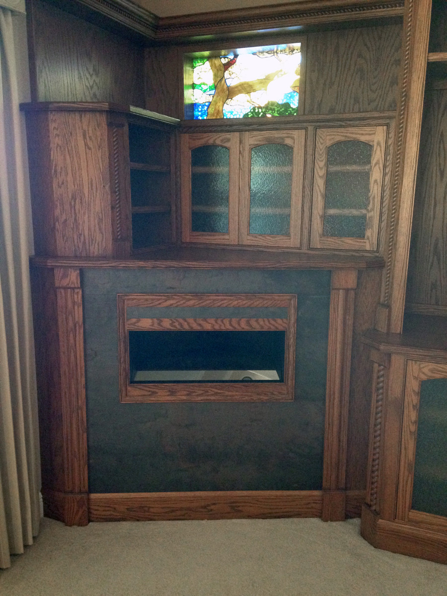 Add the bezel around fireplace view box.