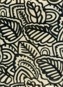 Textile d'ameublement à  motif à feuilles