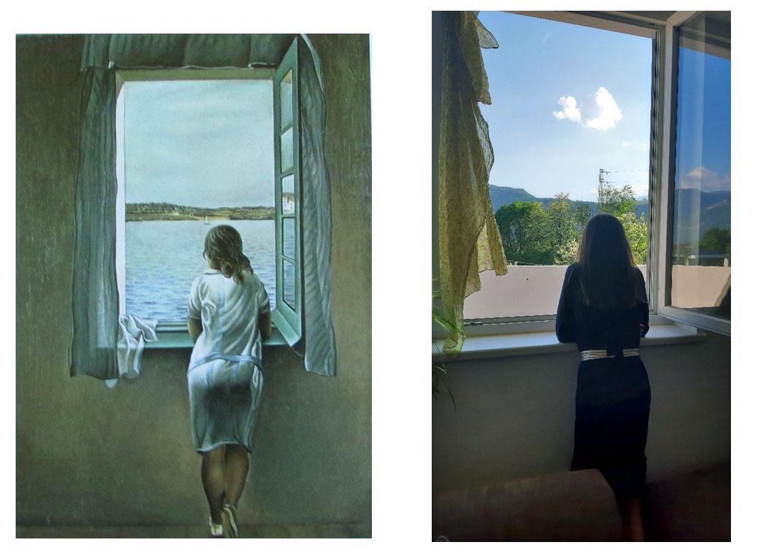 Sara Franchi (3B) - Junges Mädchen am Fenster (von Salvador DalÍ)