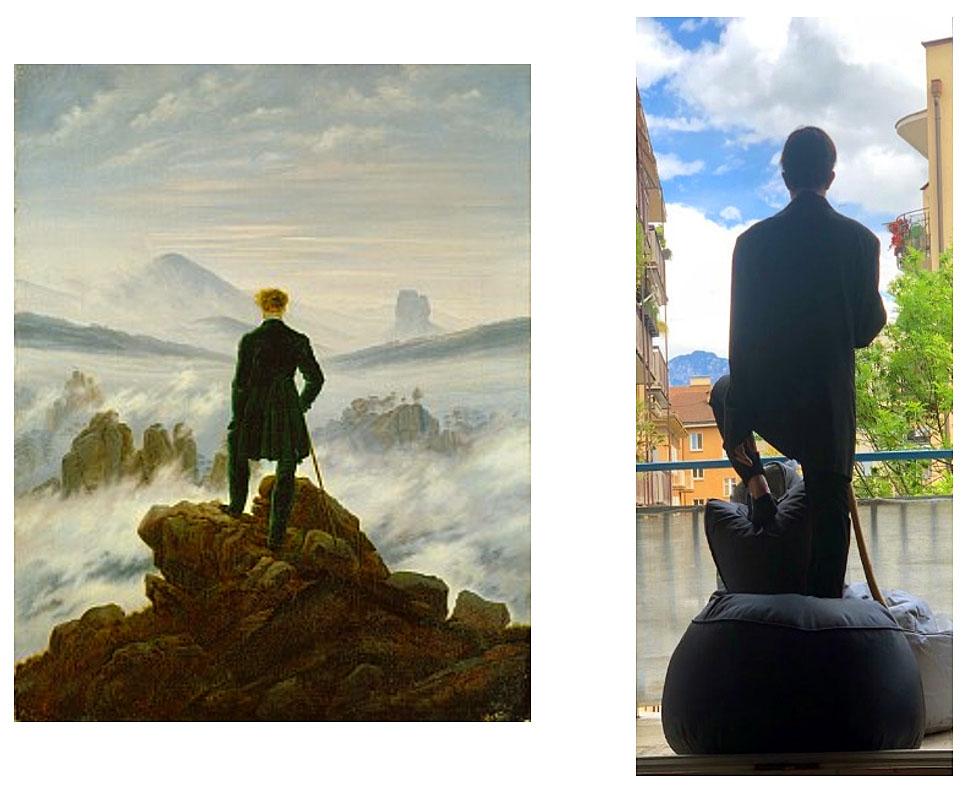 Thomas Angiolini (3C) - Wanderer im Nebelmeer (Caspar David Friedriech-)