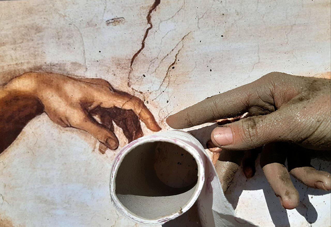 Tobias Bacher (3C) - Die Erschaffung des Adams (Michelangelo)