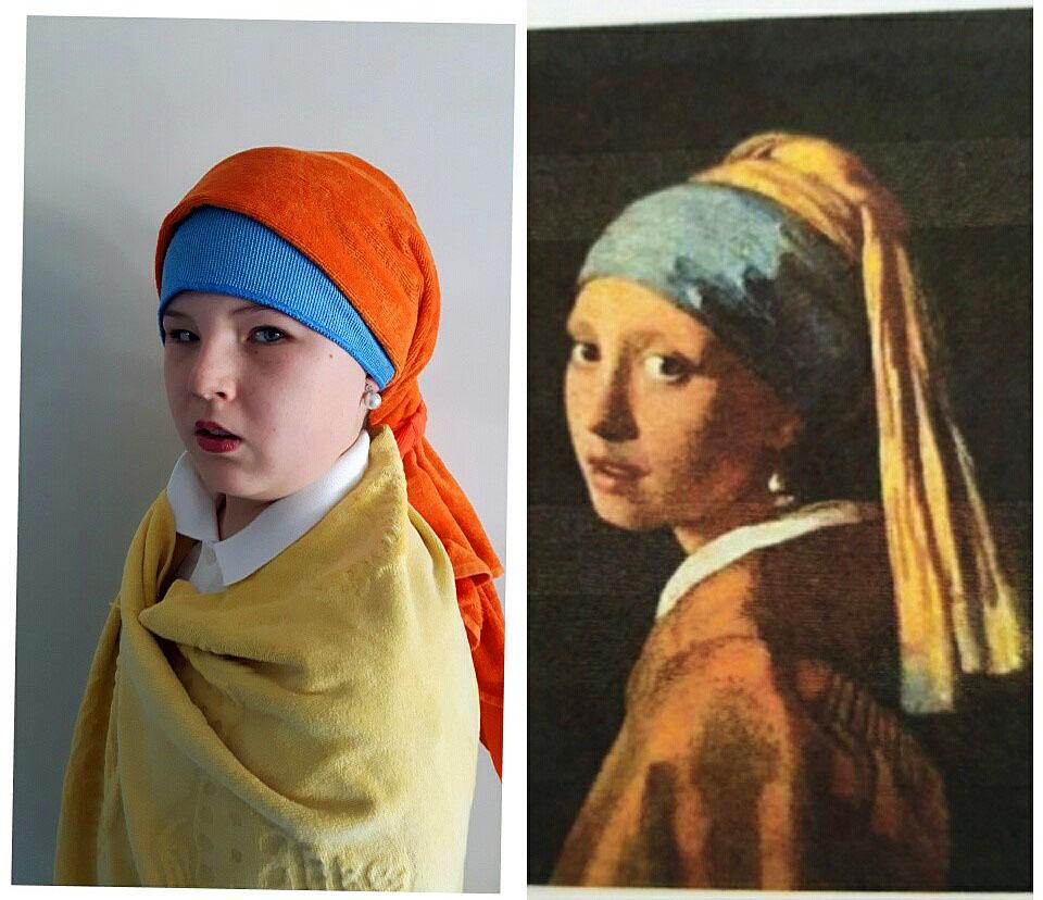 Samuel Ippolito 1B - Das Mädchen mit dem Perlenohrring (Jan Vermeer )