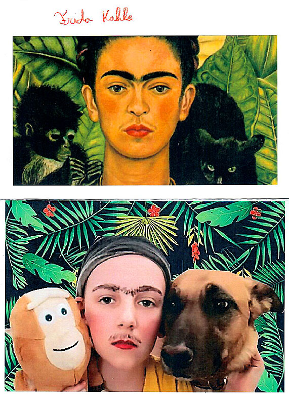 Reiner Patrick 2A - Selbstbildnis mit Dornenhalsband (Frieda Kahlo)