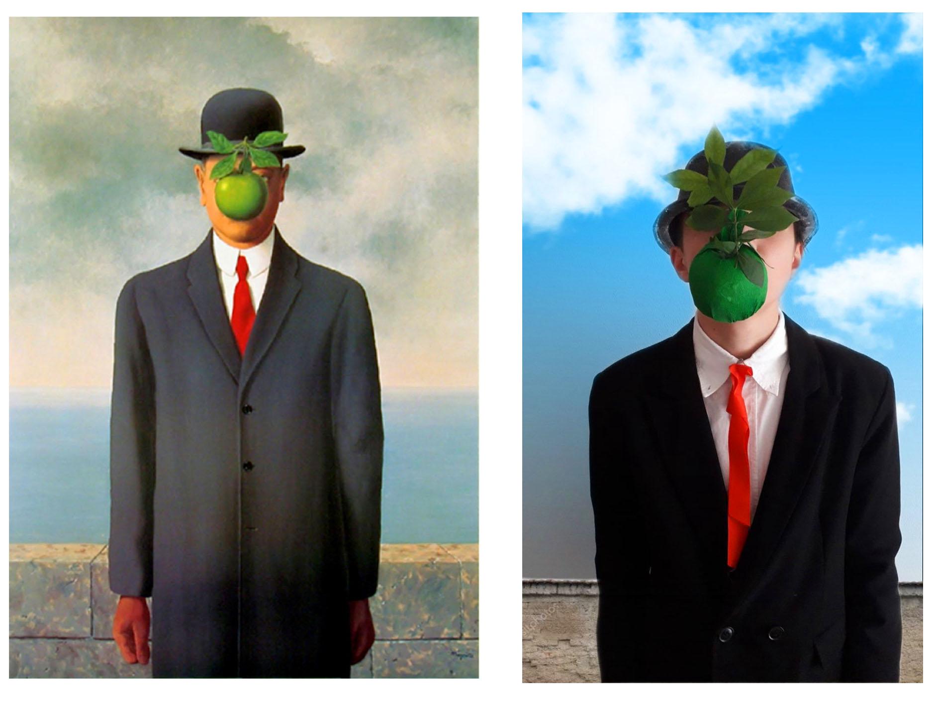 Christian Dall´Aglio (3A) - Der Sohn des Mannes (von Rene Magritte)