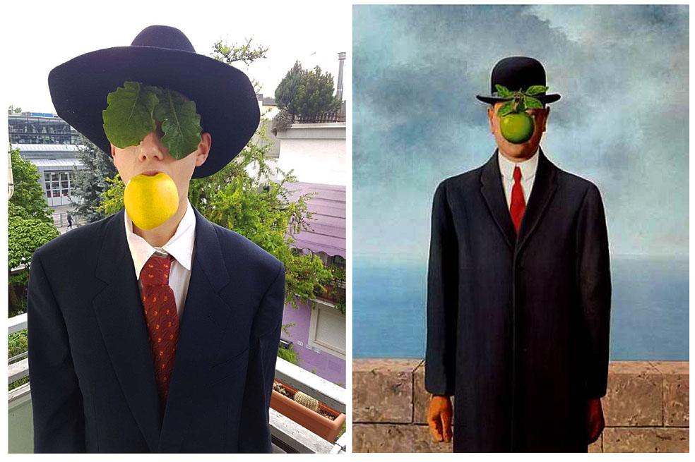 Max Domenici (1C) - Son of Man (Renè Magritte)