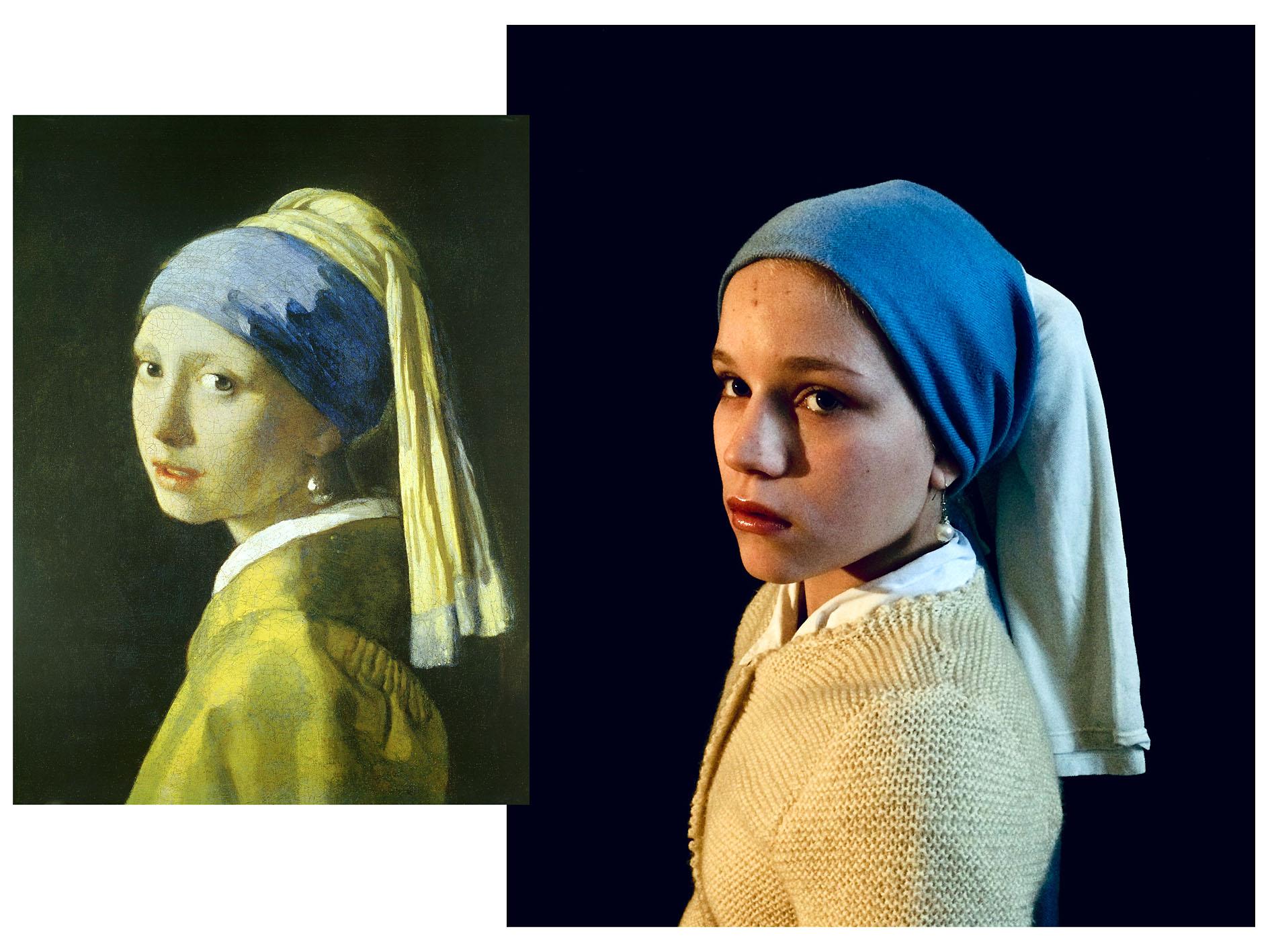 Martina Gradl 3B - Das Mädchen mit dem Perlenohrring (Jan Vermeer )
