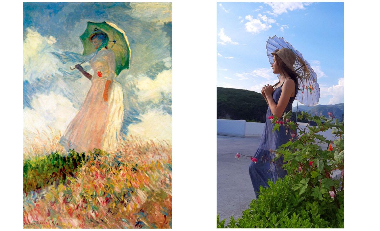 Sara Franchi (3B) - Frau mit Sonnenschirm (von Claude Monet)