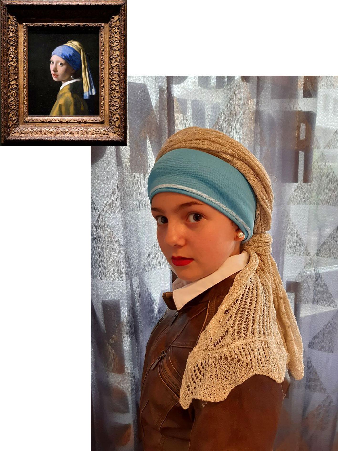 Jana Piovesan (1A) - Das Mädchen mit dem Perlohrring (Johannes Vermeer)
