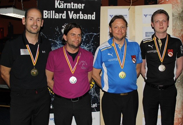 ©Philip Nessmann (Foto). Norbert Filippits (3.), Andreas Heim (2.), Friedrich Rassi (1.) und Christian Stadler (3.)