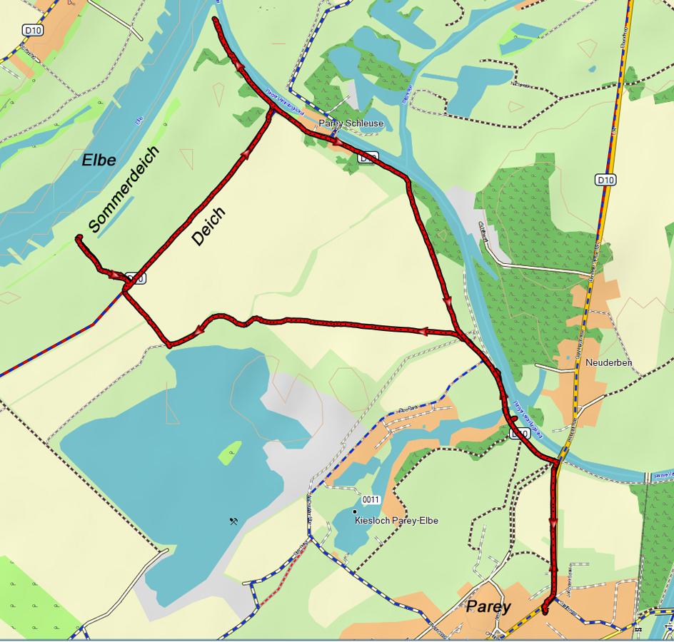 Parey - Elbe - Kleines Hochwasser