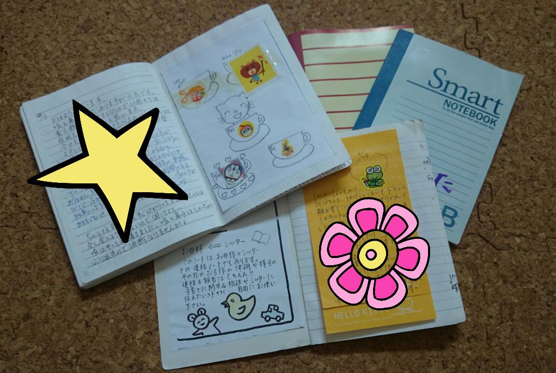私の宝物☆娘と息子の成長がつまった託児ノートです♪