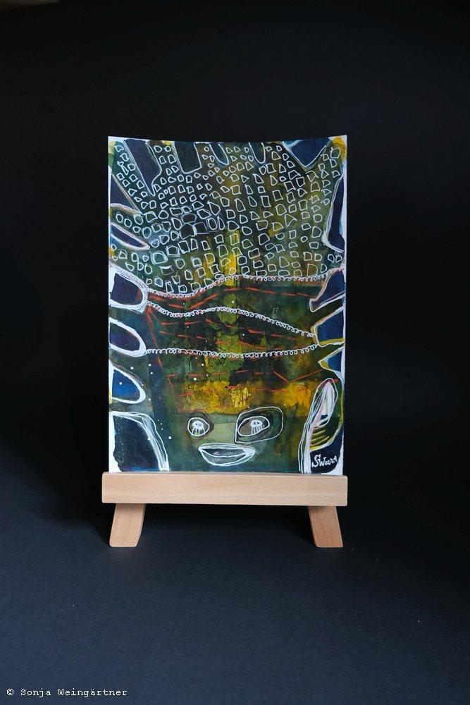 Halloween 2021 No.2 | Mischtechnik auf Papier | 24 x 17 cm | 125 Euro