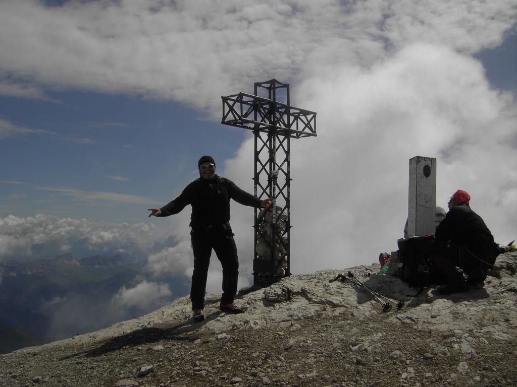 David am Gipfel