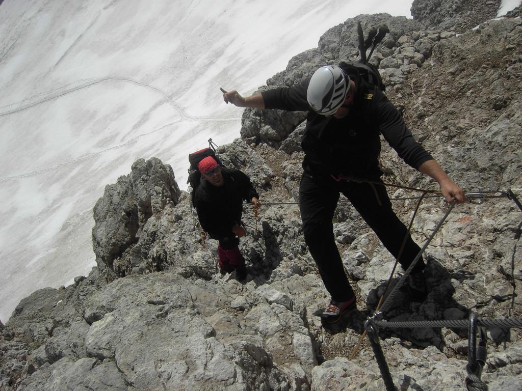 Letzten Meter im Klettersteig
