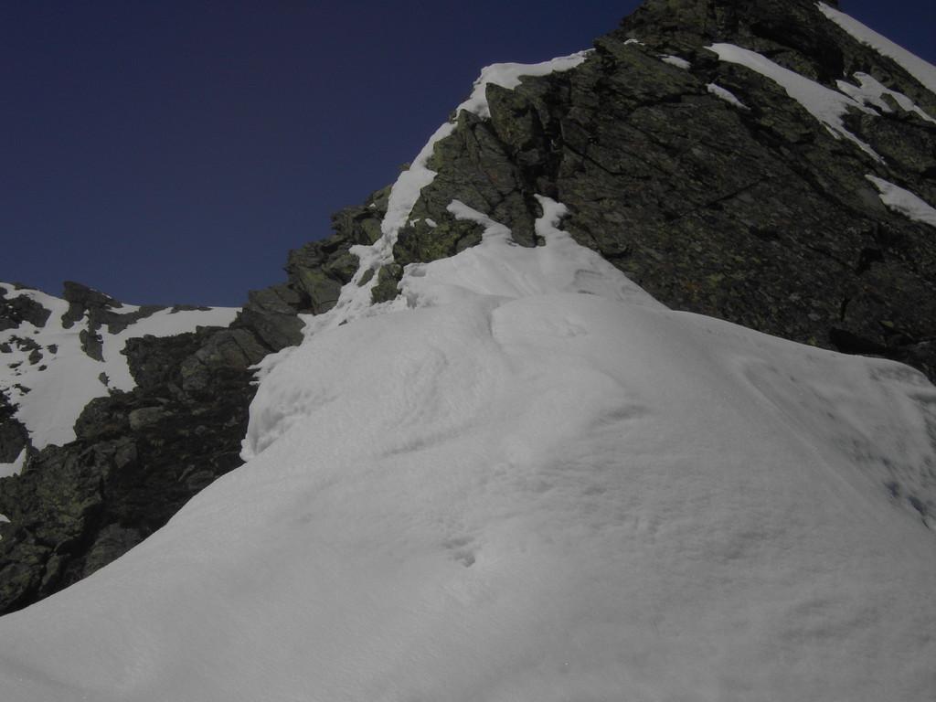 Unterhalb der Zwölferspitze noch viel Schnee