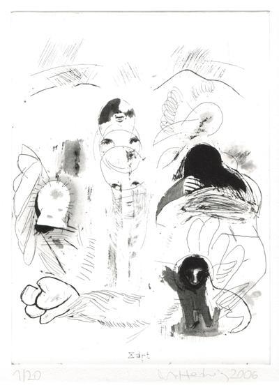 soft, 2006, Radierung, 26x19cm, Edition 20+5, Drucker: Markus Gell