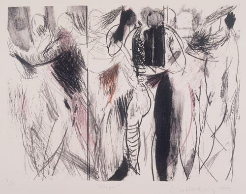 Körper, 1999, Lithographie, 48 x 64 cm, Edition 20