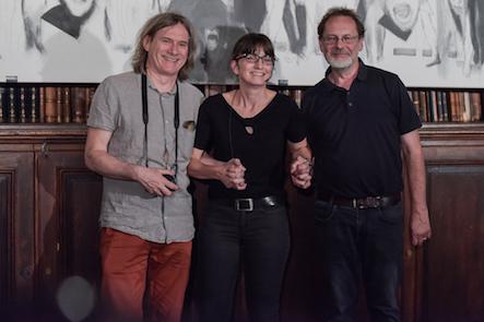 Michael Hedwig, Karin Peschka und Rudolf Jungwirth, 09.06.2016, Akademie der bildenden Künste Wien, Universitätsbibliothek, Foto: Joanna Pianka