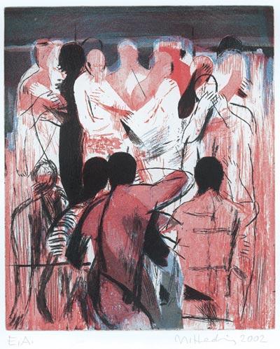 Michael Hedwig, Über Körper 7, 2002, Radierung, 33x27,5cm, Ed. 30